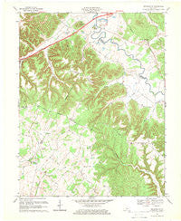 Nelsonville Kentucky Historical topographic map, 1:24000 scale, 7.5 X 7.5 Minute, Year 1967