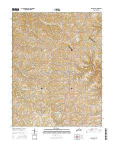 New Castle Kentucky Current topographic map, 1:24000 scale, 7.5 X 7.5 Minute, Year 2016