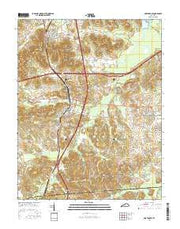 Nortonville Kentucky Current topographic map, 1:24000 scale, 7.5 X 7.5 Minute, Year 2016 from Kentucky Maps Store