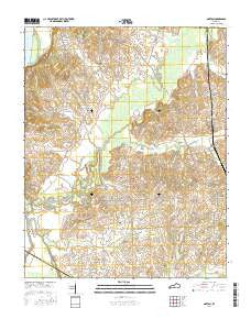 Oakton Kentucky Current topographic map, 1:24000 scale, 7.5 X 7.5 Minute, Year 2016