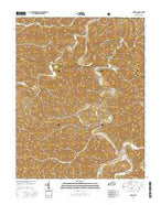 Oneida Kentucky Current topographic map, 1:24000 scale, 7.5 X 7.5 Minute, Year 2016 from Kentucky Map Store