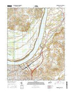 Owensboro East Kentucky Current topographic map, 1:24000 scale, 7.5 X 7.5 Minute, Year 2016 from Kentucky Map Store