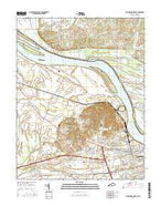 Owensboro West Kentucky Current topographic map, 1:24000 scale, 7.5 X 7.5 Minute, Year 2016 from Kentucky Map Store