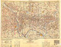 Paducah Kentucky Historical topographic map, 1:250000 scale, 1 X 2 Degree, Year 1954
