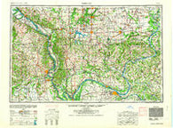 Paducah Kentucky Historical topographic map, 1:250000 scale, 1 X 2 Degree, Year 1964
