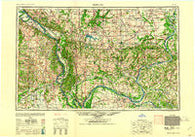 Paducah Kentucky Historical topographic map, 1:250000 scale, 1 X 2 Degree, Year 1961