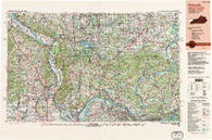 Paducah Kentucky Historical topographic map, 1:250000 scale, 1 X 2 Degree, Year 1987