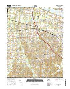 Paducah West Kentucky Current topographic map, 1:24000 scale, 7.5 X 7.5 Minute, Year 2016
