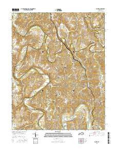 Palmer Kentucky Current topographic map, 1:24000 scale, 7.5 X 7.5 Minute, Year 2016