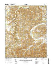 Panola Kentucky Current topographic map, 1:24000 scale, 7.5 X 7.5 Minute, Year 2016 from Kentucky Maps Store