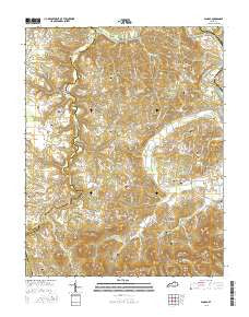 Panola Kentucky Current topographic map, 1:24000 scale, 7.5 X 7.5 Minute, Year 2016