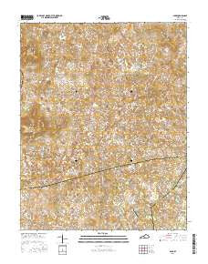 Park Kentucky Current topographic map, 1:24000 scale, 7.5 X 7.5 Minute, Year 2016