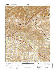 Park City Kentucky Current topographic map, 1:24000 scale, 7.5 X 7.5 Minute, Year 2016