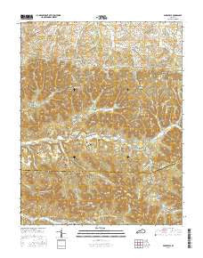 Parksville Kentucky Current topographic map, 1:24000 scale, 7.5 X 7.5 Minute, Year 2016