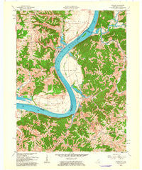 Patriot Indiana Historical topographic map, 1:24000 scale, 7.5 X 7.5 Minute, Year 1961