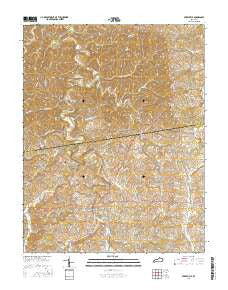Perryville Kentucky Current topographic map, 1:24000 scale, 7.5 X 7.5 Minute, Year 2016