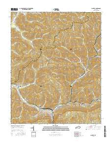 Pineville Kentucky Current topographic map, 1:24000 scale, 7.5 X 7.5 Minute, Year 2016