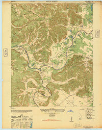 Pitts Point Kentucky Historical topographic map, 1:24000 scale, 7.5 X 7.5 Minute, Year 1946