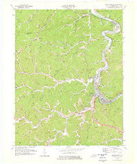 Prestonsburg Kentucky Historical topographic map, 1:24000 scale, 7.5 X 7.5 Minute, Year 1978