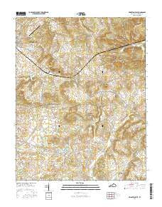 Princeton East Kentucky Current topographic map, 1:24000 scale, 7.5 X 7.5 Minute, Year 2016