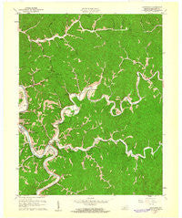 Quicksand Kentucky Historical topographic map, 1:24000 scale, 7.5 X 7.5 Minute, Year 1961