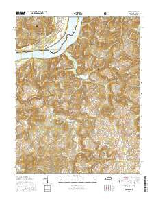 Repton Kentucky Current topographic map, 1:24000 scale, 7.5 X 7.5 Minute, Year 2016