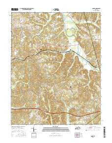Rosine Kentucky Current topographic map, 1:24000 scale, 7.5 X 7.5 Minute, Year 2016