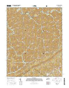 Roxana Kentucky Current topographic map, 1:24000 scale, 7.5 X 7.5 Minute, Year 2016