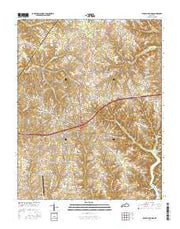 Russell Springs Kentucky Current topographic map, 1:24000 scale, 7.5 X 7.5 Minute, Year 2016 from Kentucky Maps Store
