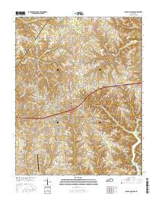 Russell Springs Kentucky Current topographic map, 1:24000 scale, 7.5 X 7.5 Minute, Year 2016