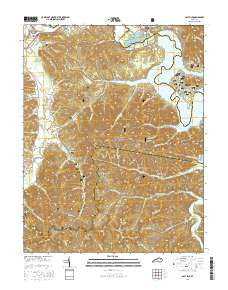 Salt Lick Kentucky Current topographic map, 1:24000 scale, 7.5 X 7.5 Minute, Year 2016