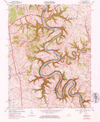 Salvisa Kentucky Historical topographic map, 1:24000 scale, 7.5 X 7.5 Minute, Year 1967