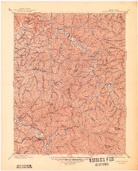 Salyersville Kentucky Historical topographic map, 1:125000 scale, 30 X 30 Minute, Year 1889