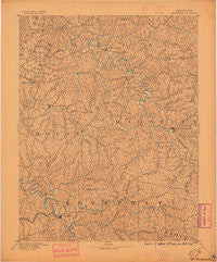 Salyersville Kentucky Historical topographic map, 1:125000 scale, 30 X 30 Minute, Year 1891