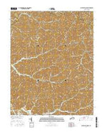 Salyersville North Kentucky Current topographic map, 1:24000 scale, 7.5 X 7.5 Minute, Year 2016 from Kentucky Map Store