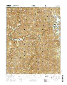 Sawyer Kentucky Current topographic map, 1:24000 scale, 7.5 X 7.5 Minute, Year 2016