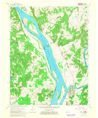Smithland Kentucky Historical topographic map, 1:24000 scale, 7.5 X 7.5 Minute, Year 1967