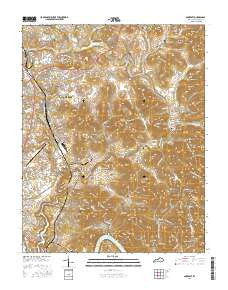 Somerset Kentucky Current topographic map, 1:24000 scale, 7.5 X 7.5 Minute, Year 2016