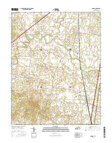 Sonora Kentucky Current topographic map, 1:24000 scale, 7.5 X 7.5 Minute, Year 2016