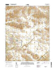 Sturgis Kentucky Current topographic map, 1:24000 scale, 7.5 X 7.5 Minute, Year 2016