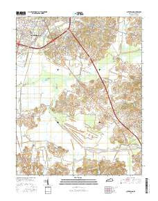 Sutherland Kentucky Current topographic map, 1:24000 scale, 7.5 X 7.5 Minute, Year 2016