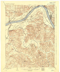 Tell City Indiana Historical topographic map, 1:62500 scale, 15 X 15 Minute, Year 1903