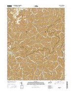 Varney Kentucky Current topographic map, 1:24000 scale, 7.5 X 7.5 Minute, Year 2016 from Kentucky Map Store