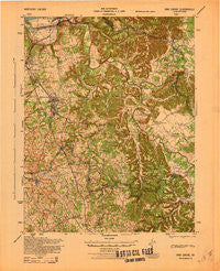 Vine Grove Kentucky Historical topographic map, 1:62500 scale, 15 X 15 Minute, Year 1943