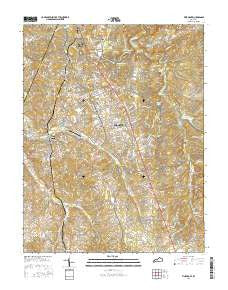 Vine Grove Kentucky Current topographic map, 1:24000 scale, 7.5 X 7.5 Minute, Year 2016