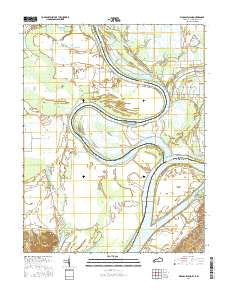 Wabash Island Kentucky Current topographic map, 1:24000 scale, 7.5 X 7.5 Minute, Year 2016