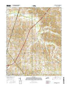 Water Valley Kentucky Current topographic map, 1:24000 scale, 7.5 X 7.5 Minute, Year 2016