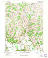 Waterford Kentucky Historical topographic map, 1:24000 scale, 7.5 X 7.5 Minute, Year 1981