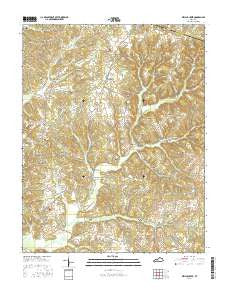 Welchs Creek Kentucky Current topographic map, 1:24000 scale, 7.5 X 7.5 Minute, Year 2016