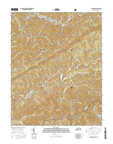 Whitesburg Kentucky Current topographic map, 1:24000 scale, 7.5 X 7.5 Minute, Year 2016